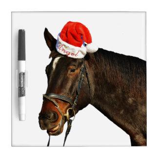 Horse santa - christmas horse - merry christmas dry erase board