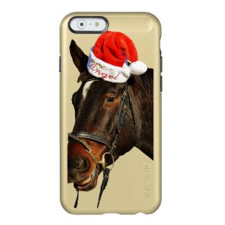 Horse santa - christmas horse - merry christmas incipio feather® shine iPhone 6 case