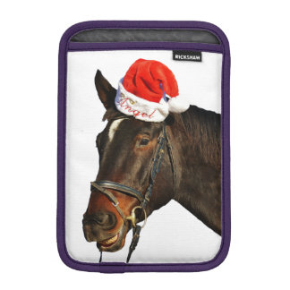 Horse santa - christmas horse - merry christmas iPad mini sleeve