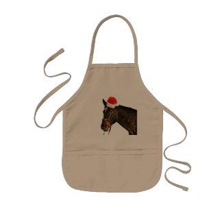 Horse santa - christmas horse - merry christmas kids apron