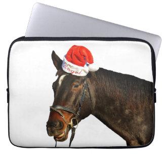Horse santa - christmas horse - merry christmas laptop sleeve