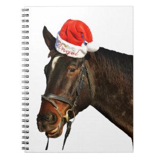 Horse santa - christmas horse - merry christmas notebook
