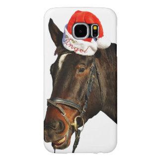 Horse santa - christmas horse - merry christmas samsung galaxy s6 cases
