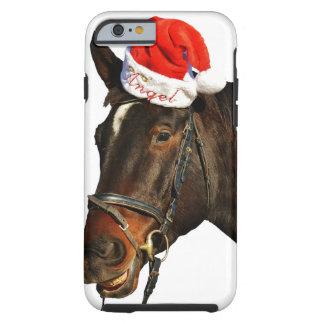 Horse santa - christmas horse - merry christmas tough iPhone 6 case