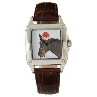 Horse santa - christmas horse - merry christmas watch