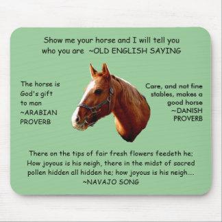 HORSE SENSE - mousepad