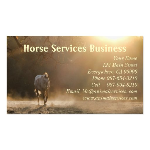 Horse Services/Horse Veterinarian Business Cards