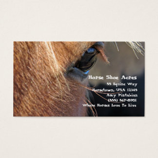Horse Shoe Acres Business Card