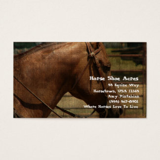 Horse Shoe Acres Western Business Card