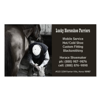 Horse Shoe Farrier Hoof Service Pack Of Standard Business Cards