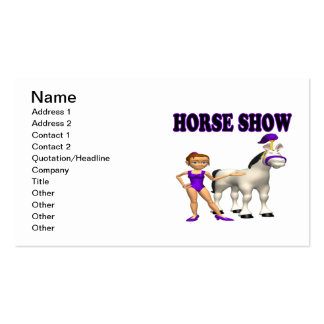 Horse Show 2 Pack Of Standard Business Cards