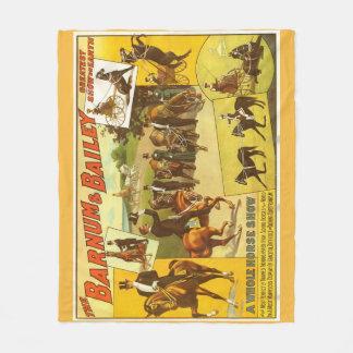 Horse Show Circus Poster Fleece Blanket