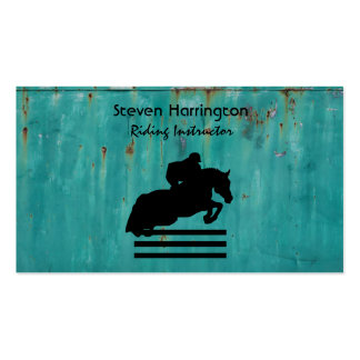 Horse Show Hunter Jumper Silhouette Pack Of Standard Business Cards