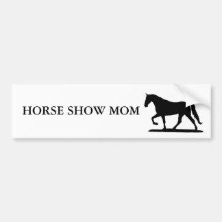 HORSE SHOW MOM - GAITED BUMPER STICKERS