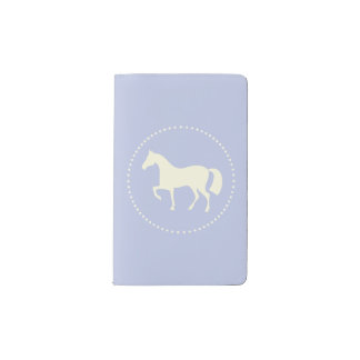 Horse silhouette pocket moleskine note book (blue)