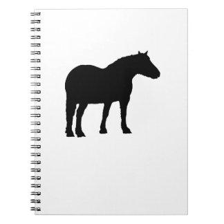 Horse Silhouette Spiral Notebook