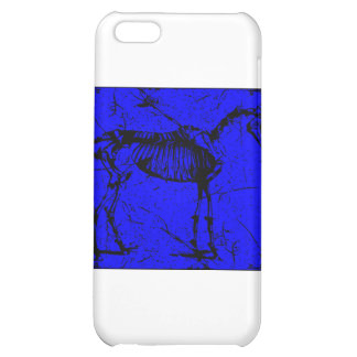 horse skeleton blue case for iPhone 5C