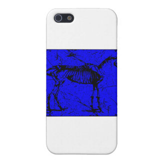 horse skeleton blue iPhone 5 covers
