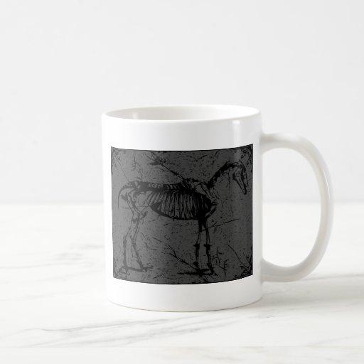 Horse Skeleton Gray Coffee Mug