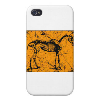 Horse Skeleton Orange iPhone 4/4S Cases