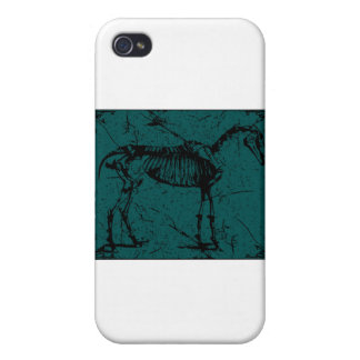 horse skeleton turquiose cases for iPhone 4