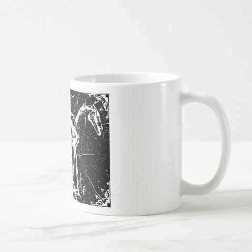 Horse skeleton white mugs