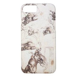 Horse Sketches by Leonardo DaVinci iPhone 8/7 Case