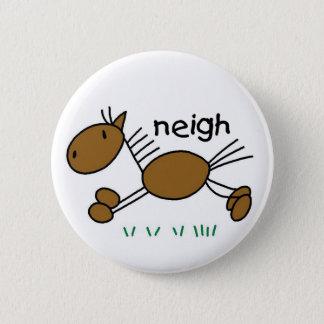 Horse Stick Figure Button