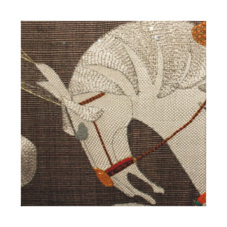 Horse tapestry detail canvas print