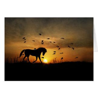 Horse Thank You Card