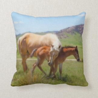 Horse Throw Pillow by Amanda Smith Wyoming Photo