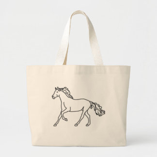 Horse Tote Bag Wide