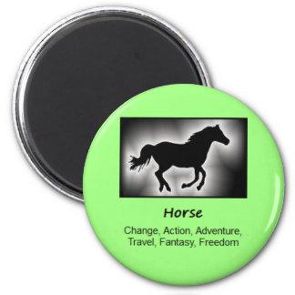 Horse Totem Animal Spirit Meaning 6 Cm Round Magnet