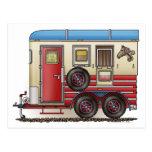 Horse Trailer Camper Post Cards