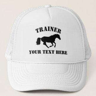 Horse trainer or stableyard trucker hat