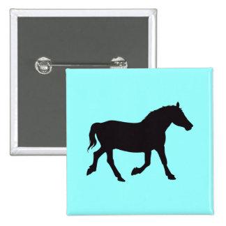 Horse Vintage Wood Engraving Button