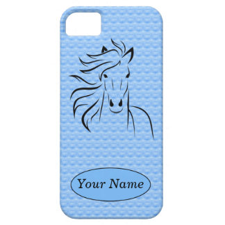 Horse w/Blue Background iPhone 5/5s Case