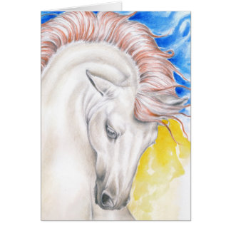 Horse Watercolor Art Card