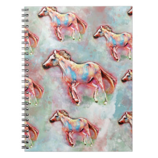 Horse watercolor notebook