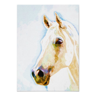 Horse Watercolor Portrait 5x7 Print Card