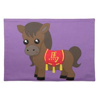 Horse Wearing Saddle Place Mats