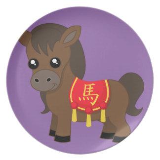 Horse Wearing Saddle Plate