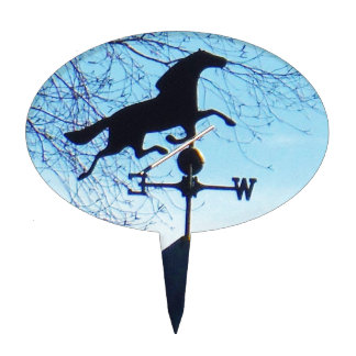 Horse Weather Vane Blue Sky Cake Toppers
