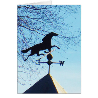 Horse Weather Vane Blue Sky Greeting Card