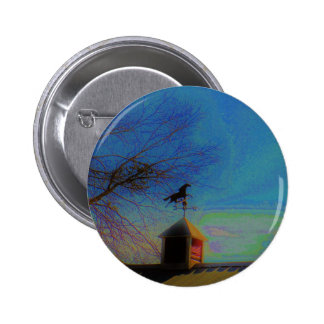 Horse Weather Vane colorful Sky Pinback Button