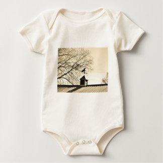 Horse Weather Vane sepia Baby Bodysuit
