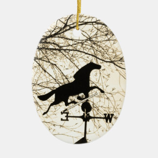 Horse Weather Vane sepia Christmas Tree Ornament