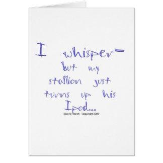 Horse Whisperer: stallion Ipod Greeting Card