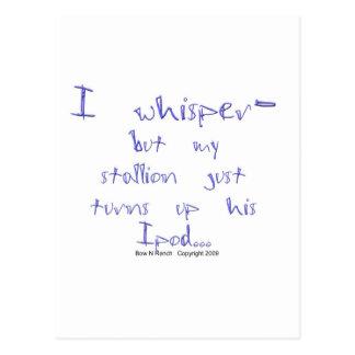 Horse Whisperer: stallion Ipod Postcard