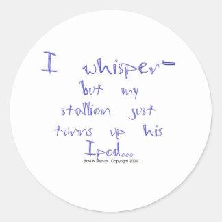 Horse Whisperer: stallion Ipod Round Sticker